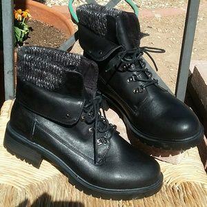 Torrid Black Sweater Top Hiking Boots